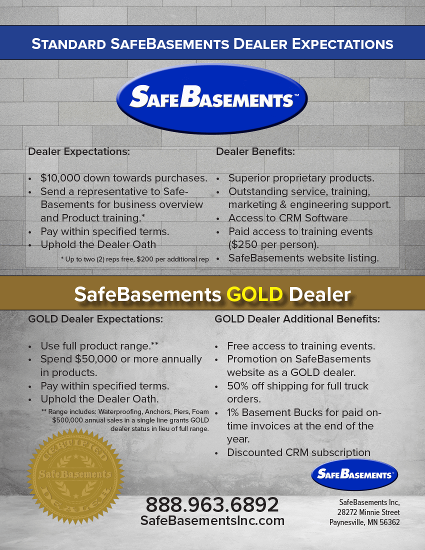 SafeBasements Dealer Expectations