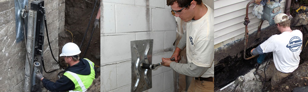 Foundation repair performed by SafeBasements Dealers