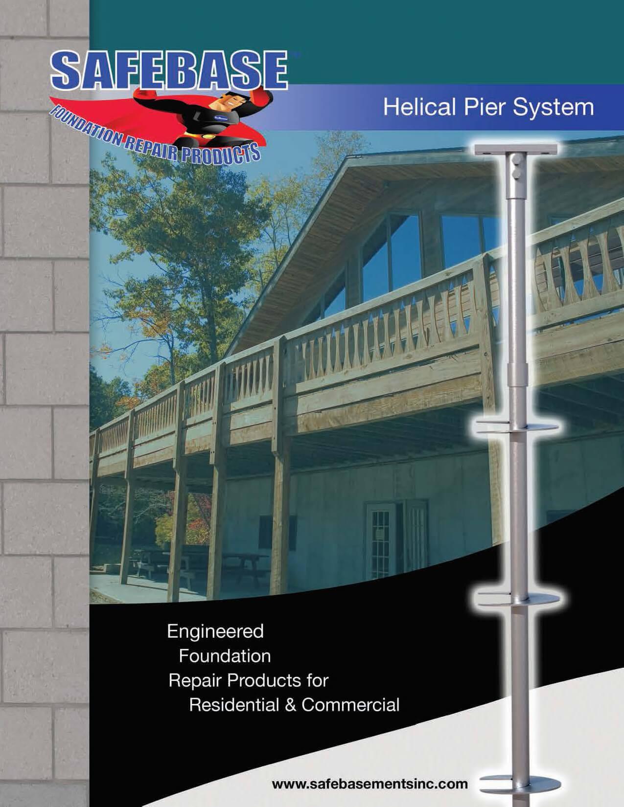 SafeBase™ Helical Piers | Fixing Foundation Settlement