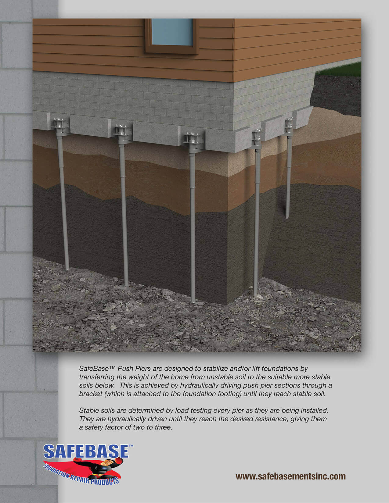 Safebase Push Piers Fixing Foundation Settlement