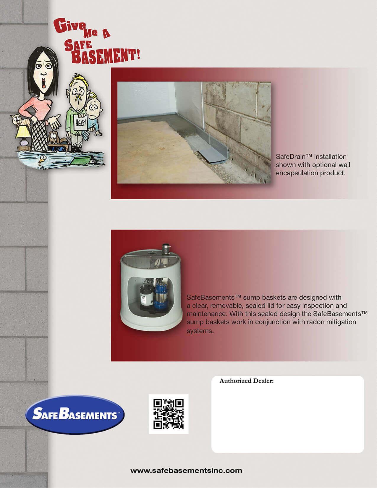 Basement Drainage Design safedrain™ waterproofing system   basement drainage   safebasements™
