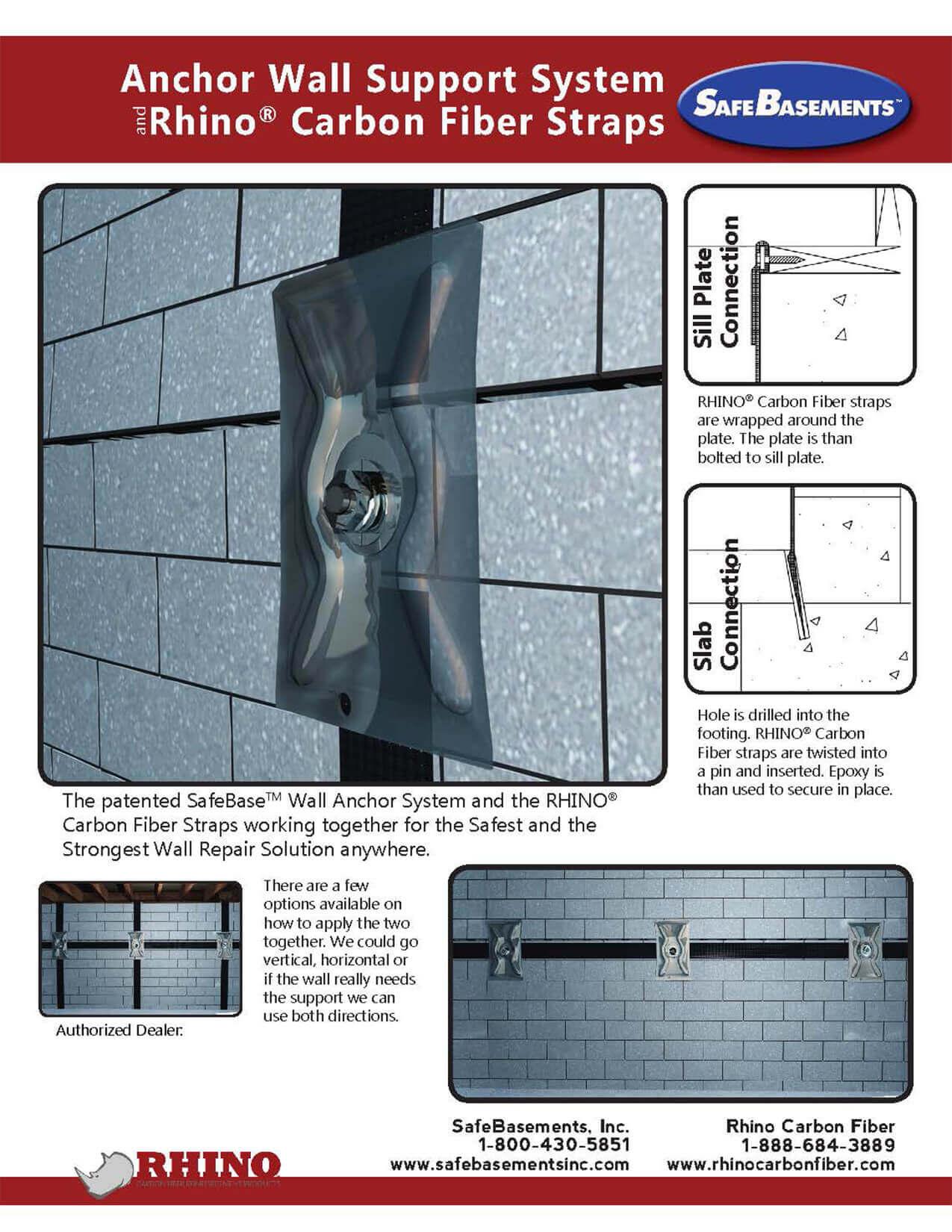 SafeBase™ Wall Anchors | Fixing Bowed Walls