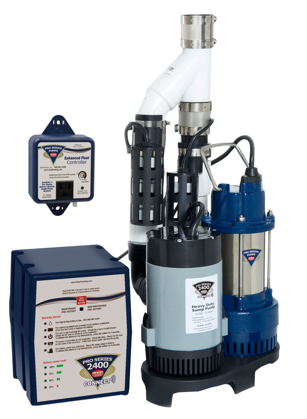 Primary and Backup Pump 2400