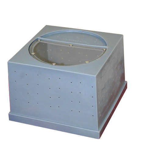 Crawl space sump pump basket